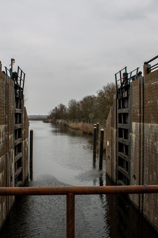 Chiusa aperta in Olanda fotografia stock libera da diritti