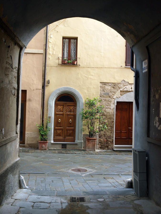 Chiusi. One of the most ancient Etruscan towns in Tuscany, Italy royalty free stock images
