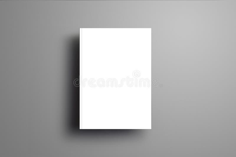 A4 chiuso in bianco, opuscolo A5 con l'isolante realistico molle delle ombre illustrazione vettoriale