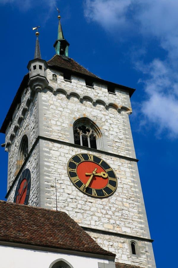 Chiuso sulla chiesa di St.Johann fotografia stock libera da diritti
