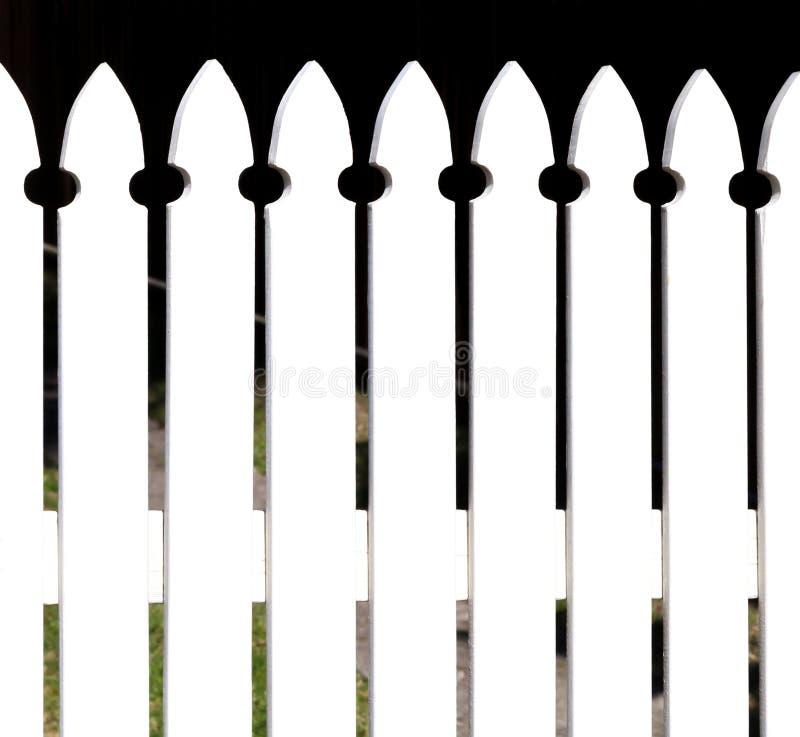 Chiusura bianca abbastanza stile cottage fotografia stock