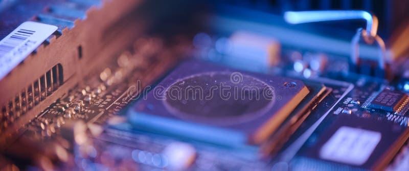 Chiusura del circuito elettronico fotografia stock libera da diritti