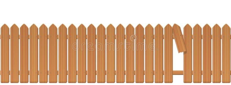 Download Chiusura Di Legno With Gap In Il Recinto Illustrazione Vettoriale - Illustrazione di barriera, legname: 117977069