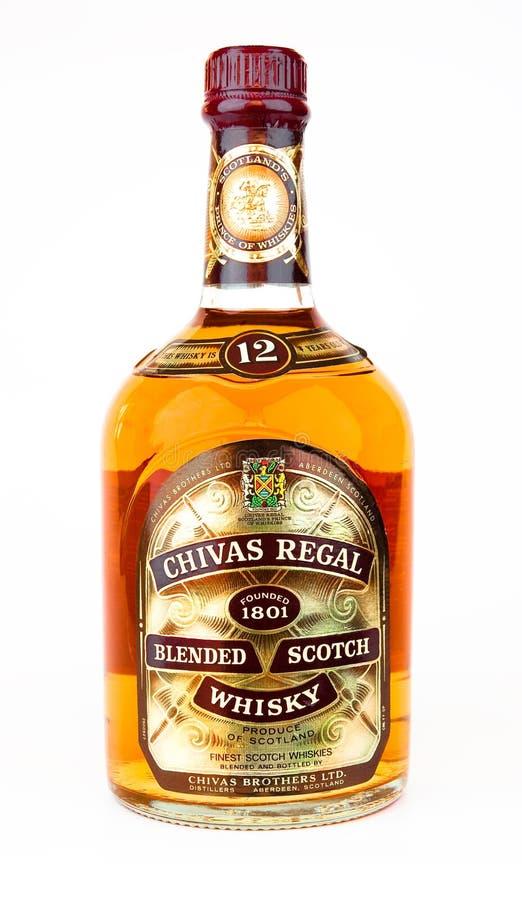 Chivas Regal a mélangé le whisky écossais. images stock