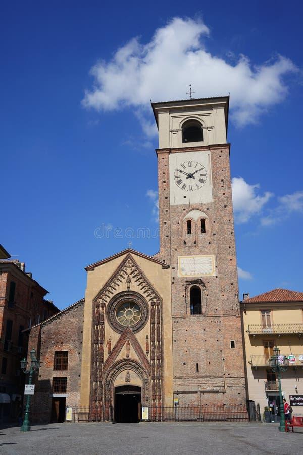 Chivasso de collegiale kerk van Santa Maria Assunta royalty-vrije stock foto's