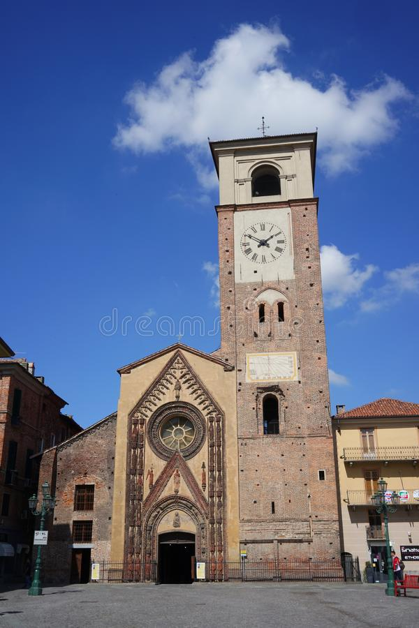Chivasso l'église collégiale de Santa Maria Assunta photos libres de droits