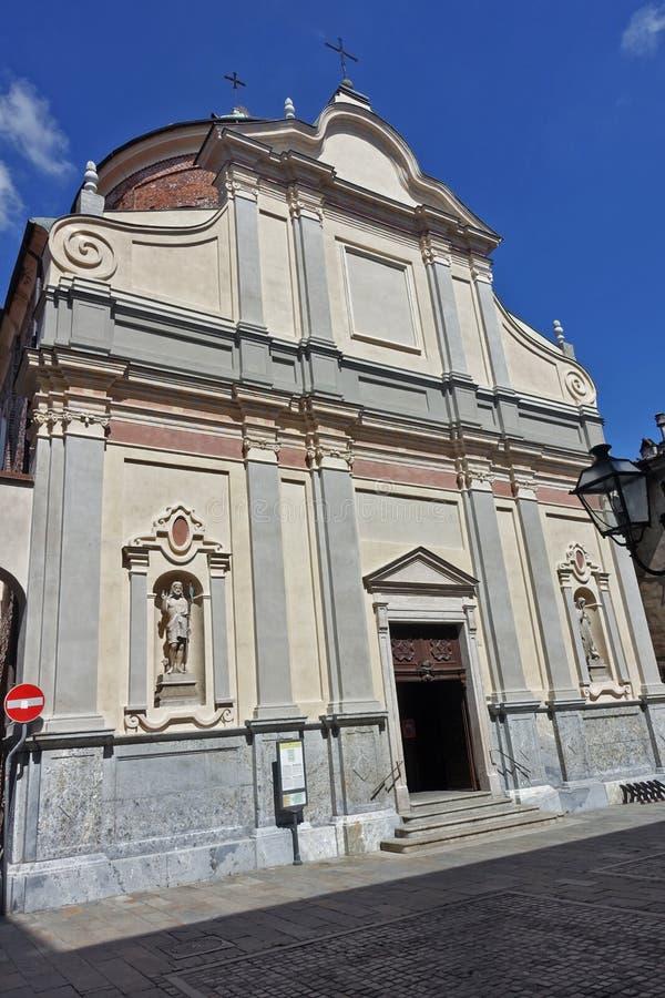 Chivasso The Church S.S. Giovanni Battista e Marta. Chivasso Piedmont Italy Chivasso Civass in Piedmont is an Italian town of 26 998 inhabitants, located in the stock photos
