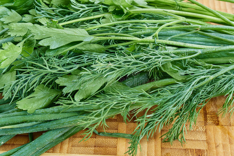 Download Chives Parsley dill stock photo. Image of fragrant, organic - 75226048