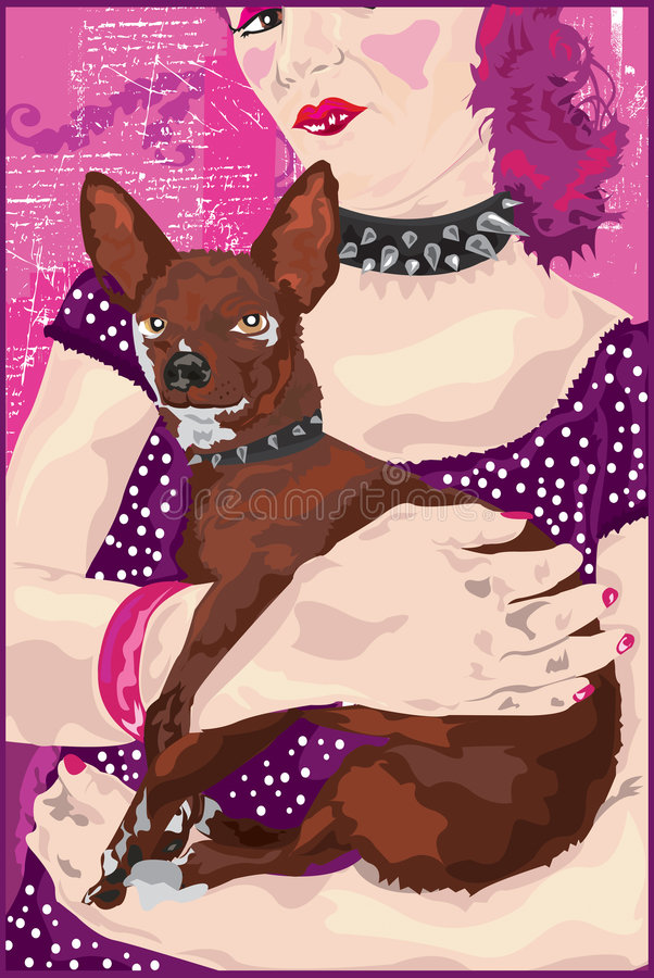 Chiwawa et Madame illustration stock