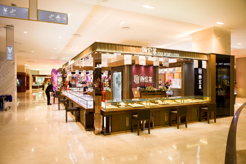 Chj Jewelry In Shopping Mall Editorial Stock Image Image