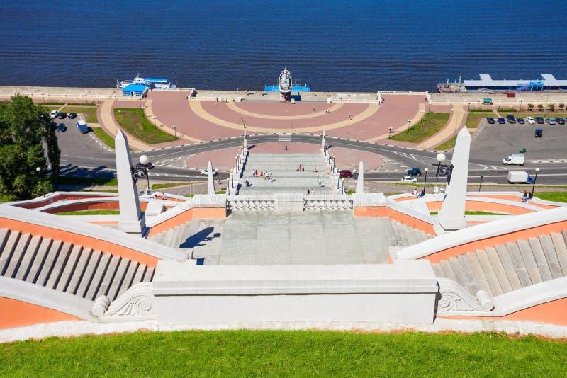 Chkalov schody, Nizhny Novgorod zdjęcie royalty free