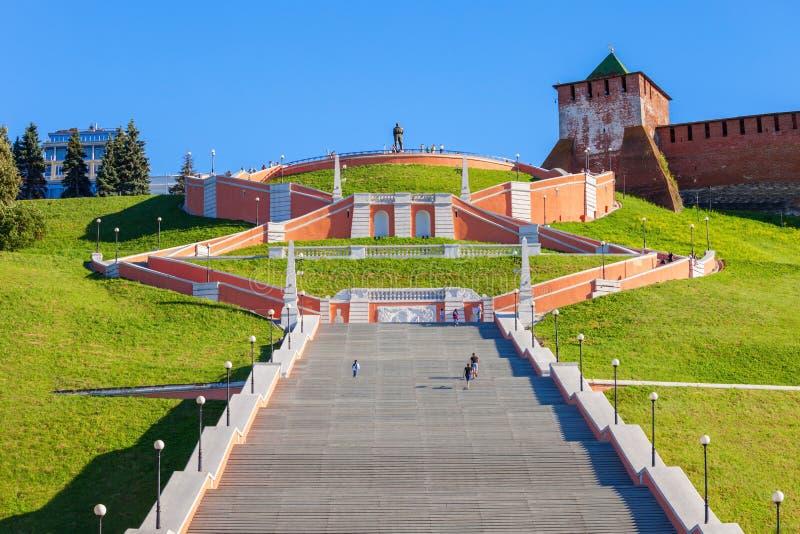 Chkalov schody, Nizhny Novgorod zdjęcie stock