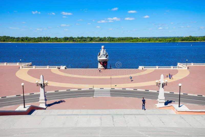 Chkalov schody, Nizhny Novgorod fotografia royalty free