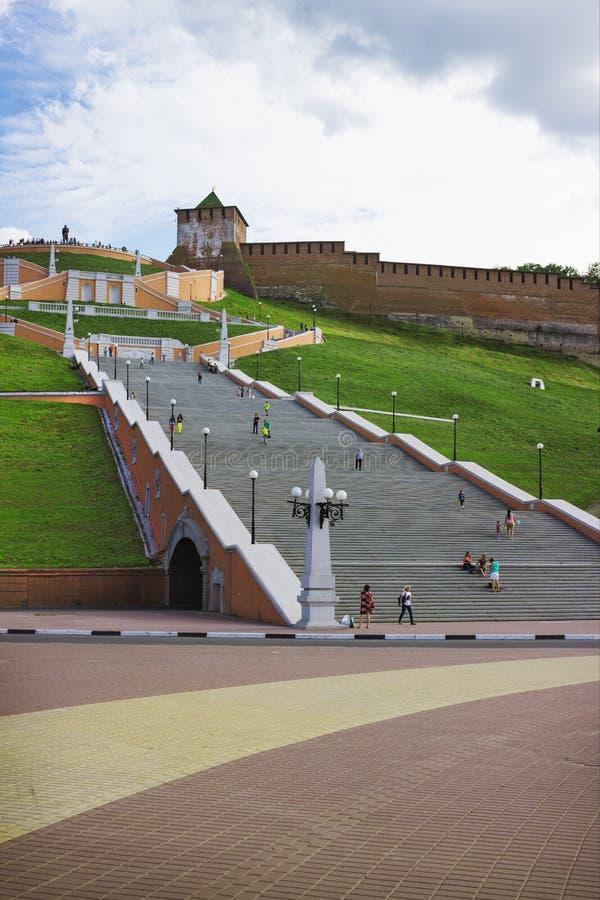 Chkalov schody nizhny novgorod Rosja obrazy stock
