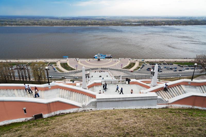 Chkalov schody w Nizhny Novgorod zdjęcia stock