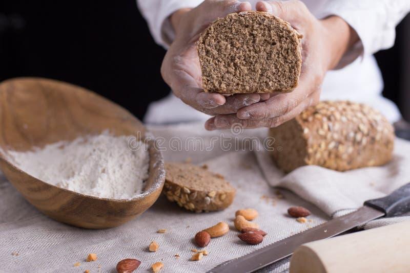 chleb, ciasta blisko obrazy stock