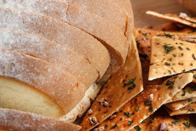 Chleb i chipsy obraz stock