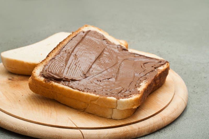 Chleb i czekolada zdjęcie stock