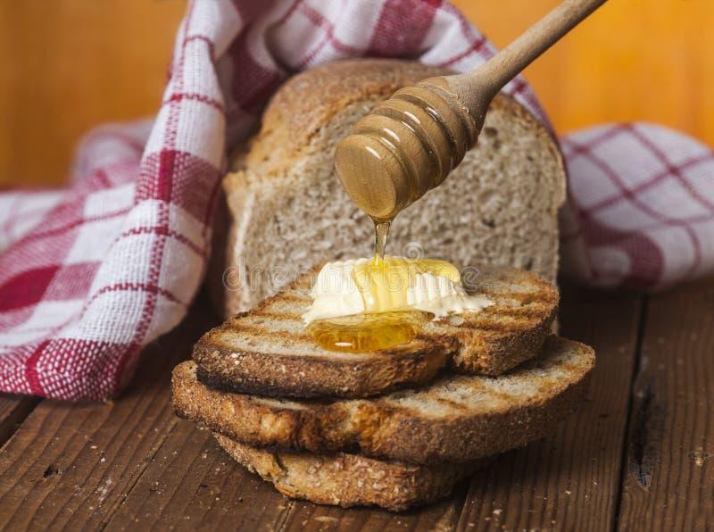 Chleb i miód obraz royalty free
