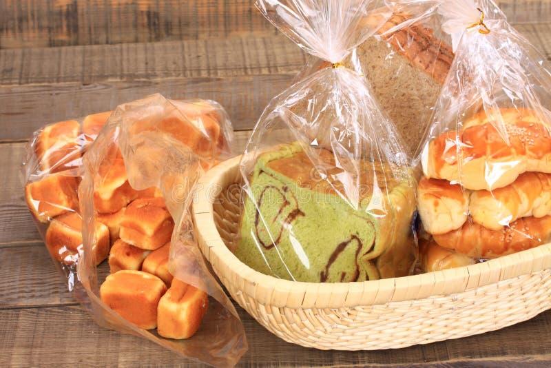 Chleb i muffins obrazy stock