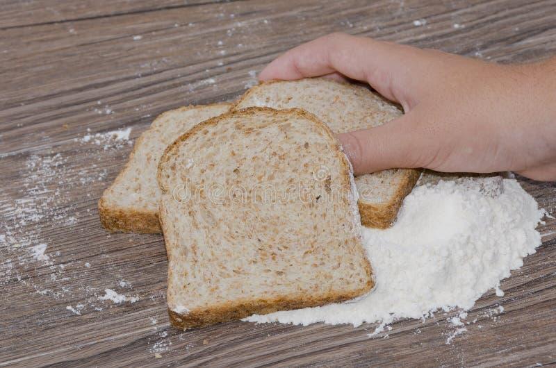 Chleb i posiłek obrazy royalty free
