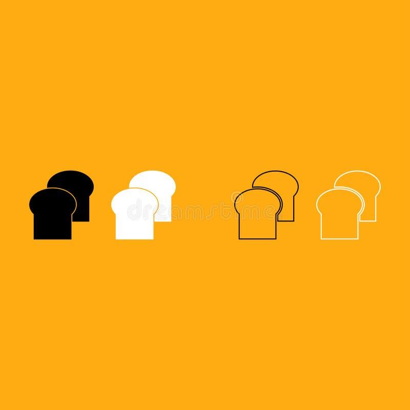 Chleb ja jest białym ikoną ilustracja wektor