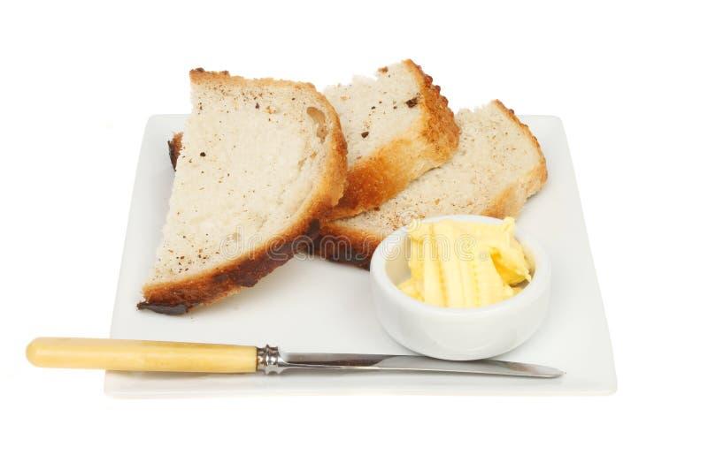 chleb masła zdjęcia stock