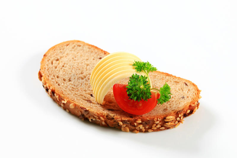 chleb masła fotografia royalty free