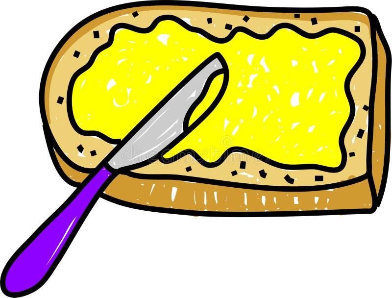 chleb masłem ilustracja wektor