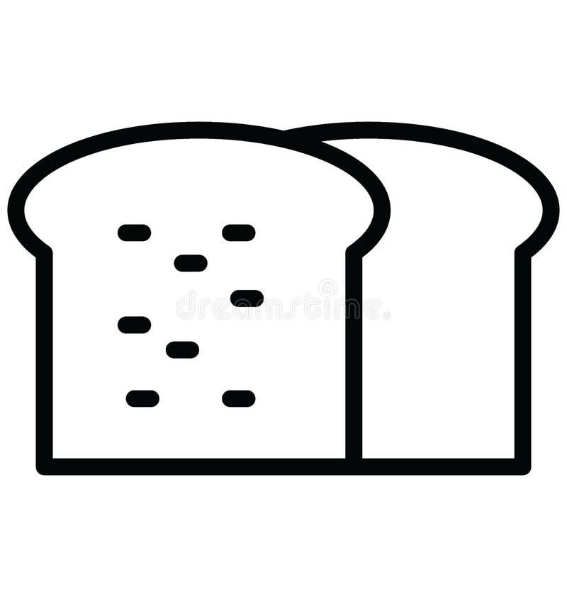Chleb Odizolowywa? Wektorow? ikon? kt?ra mo?e ?atwo modyfikowa? lub redagowa? chleb Odizolowywa? Wektorow? ikon? kt?ra mo?e ?atwo royalty ilustracja