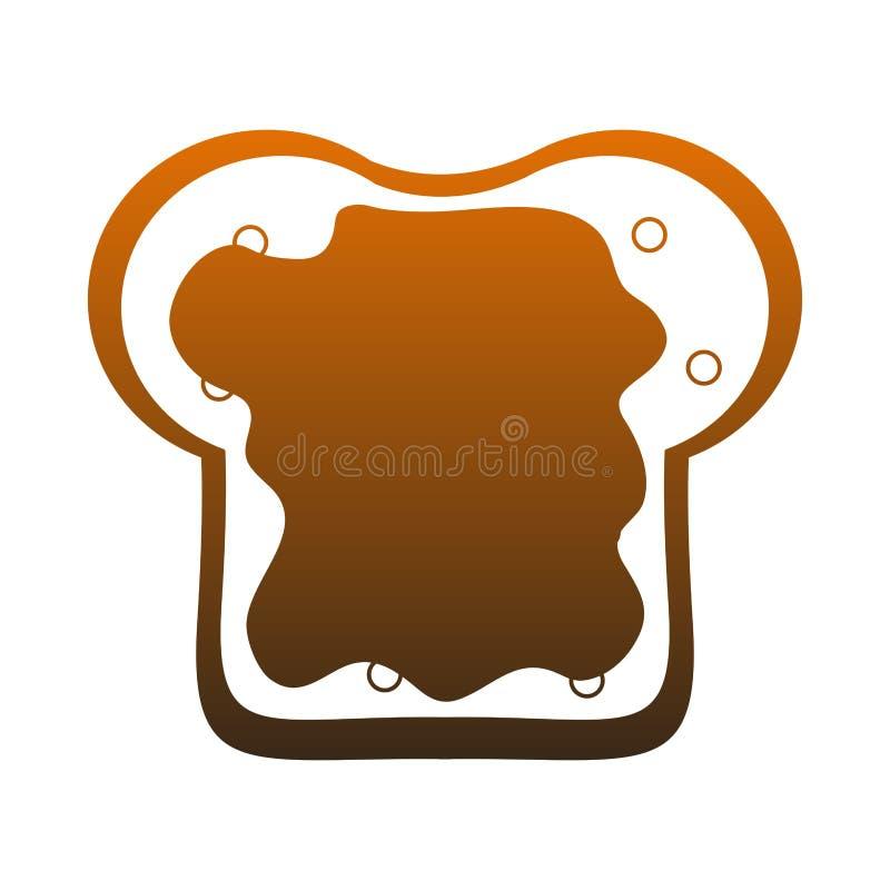 Chleb pokrajać z dżem pomarańczowymi liniami ilustracji