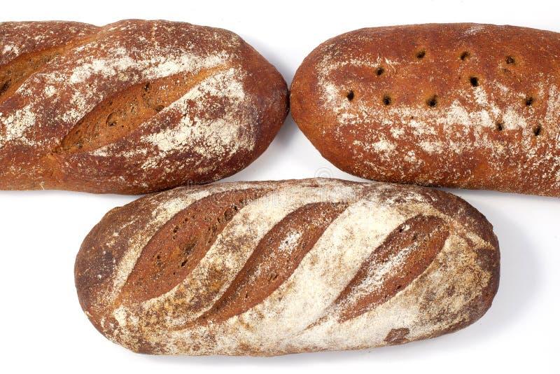 Chleb - raye sourdough chleb, kilka bochenki nearby-3 zdjęcie royalty free