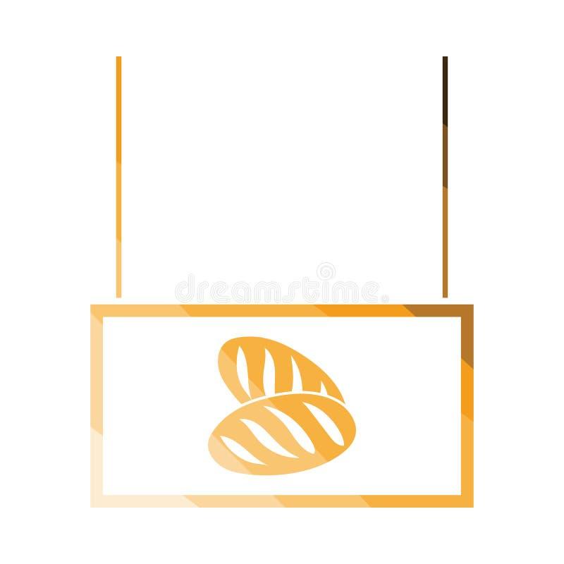 Chleb targowa wydziałowa ikona ilustracji
