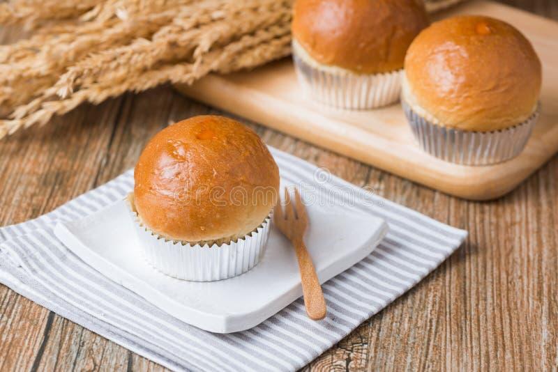 Chleb w babeczce obrazy stock