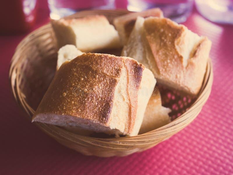 Chleb w koszu obraz stock