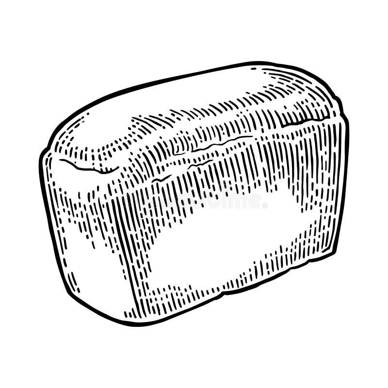 Chleb Wektorowy czarnej ręki rocznika rysujący rytownictwo ilustracja wektor