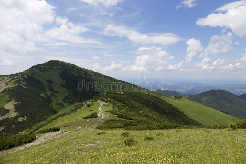 Chleb wysoki szczyt w górach Mały Fatra w Sistani fotografia stock