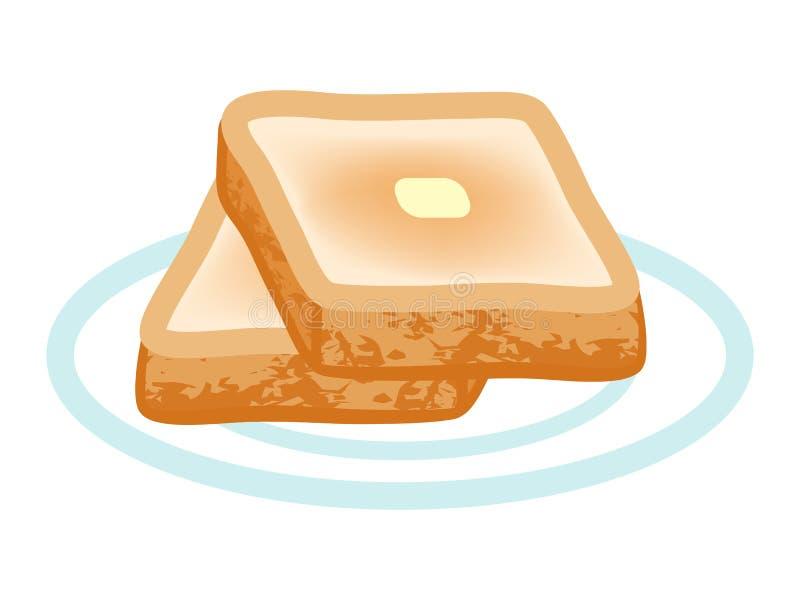 chleb wznoszący toast ilustracji