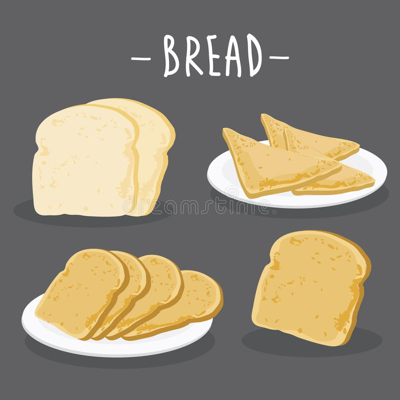 chleb wznoszący toast Szczegółowa Wektorowa ikona Serie jedzenie, napój i składniki dla gotować ilustracji