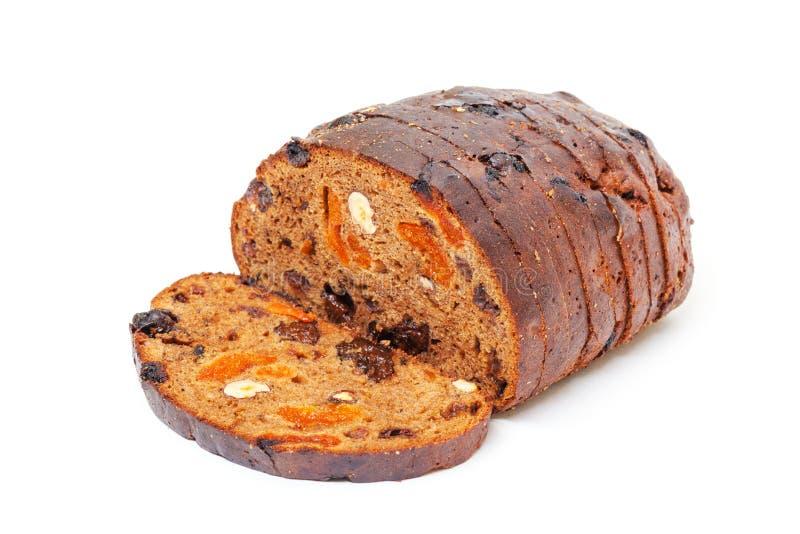 Chleb z dokrętkami i rodzynkami zdjęcia stock