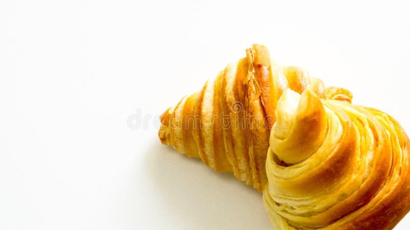 Chleb z filiżanką w ranku czasie fotografia stock
