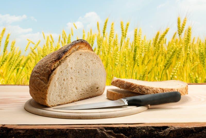 Chleb z nożem obraz royalty free