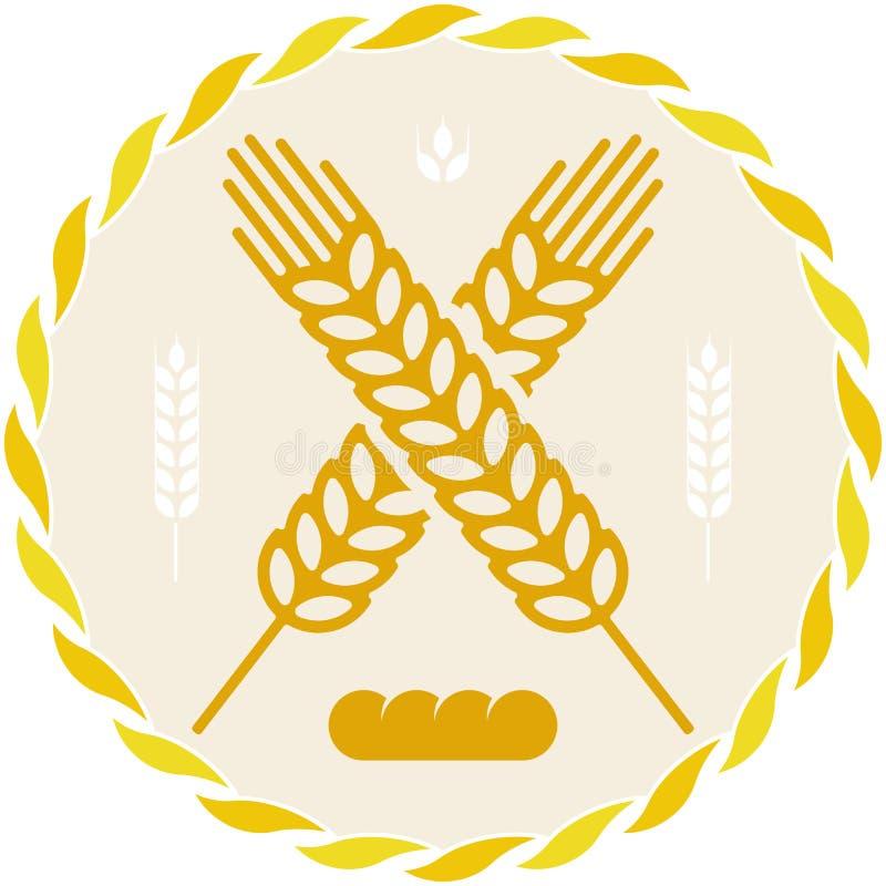 Chlebowa ikona z banatki adry kolcem w geometrycznym stylu royalty ilustracja