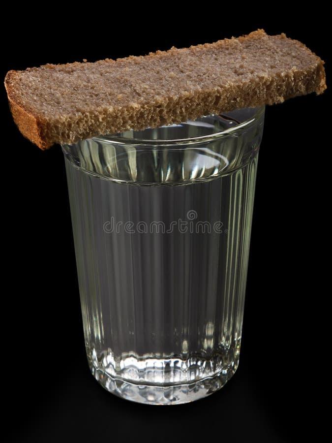 chlebowa karmowa szklana ajerówka obraz stock