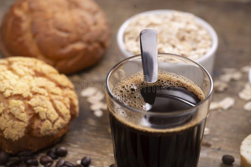 chlebowa kawa obrazy royalty free