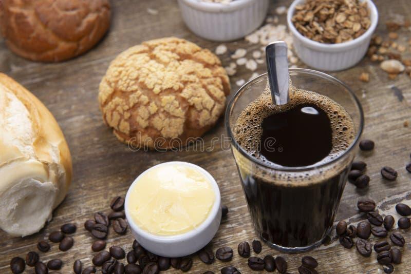 chlebowa kawa obraz stock