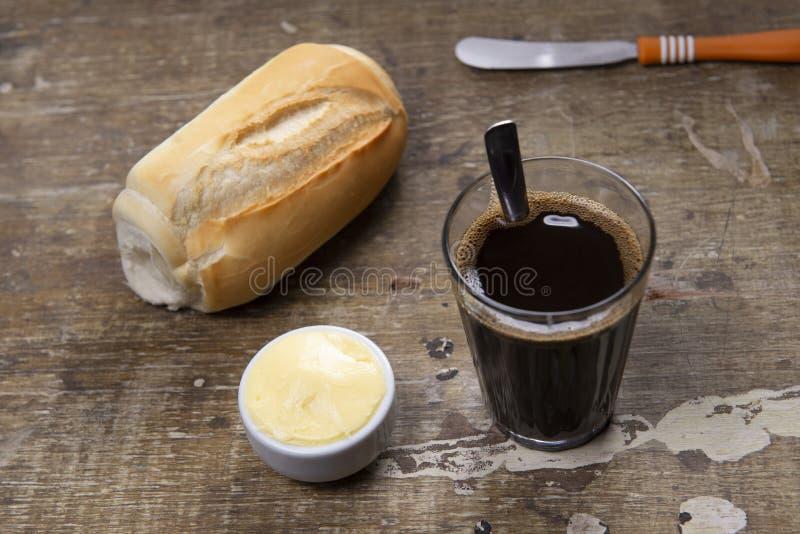 chlebowa kawa fotografia stock