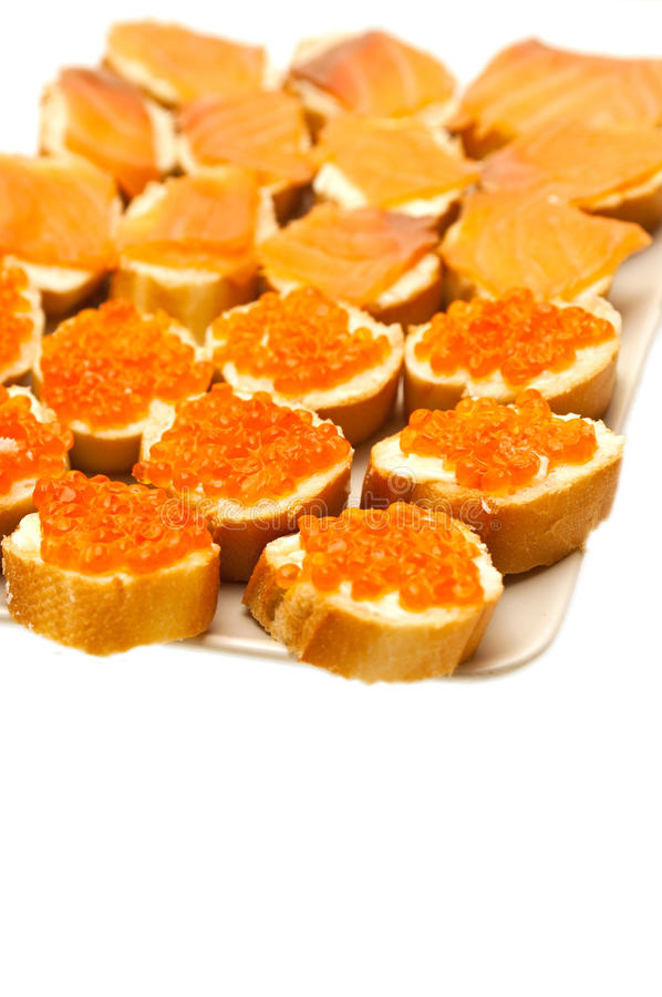 chlebowa masła kawioru czerwień obraz royalty free