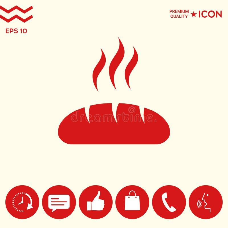 Chlebowa symbol ikona ilustracji