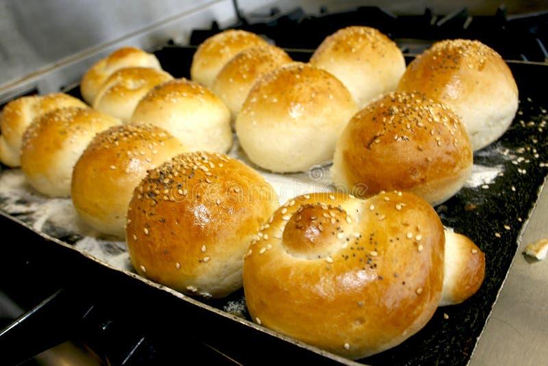 chlebowe świeże rolki fotografia stock